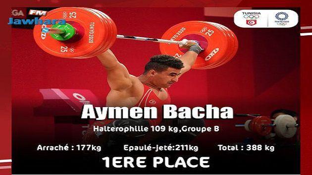 JO 2020- Haltérophilie (-109 kg) : Aymen Bacha prend la première place du groupe B