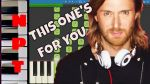 DAVID GUETTA FT ZARA LARSSON - THIS ONE S FOR YOU